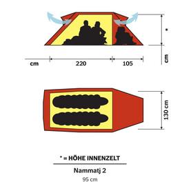 Hilleberg Nammatj 2 Zelt rot